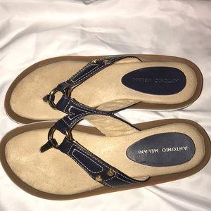 Antonio Melani Genuine Leather Sandals